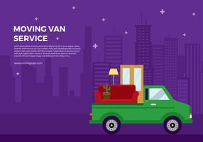 Moving Van Cartoon Free Vector