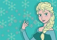 Elsa frozen illustration