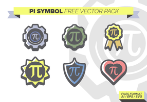 Símbolo del pi paquete de vectores libres