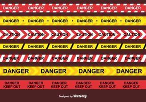 Danger vecteur de bande