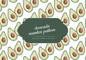 Vector Hand Drawn Avocado Pattern