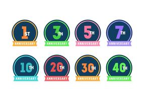 Anniversary Badges
