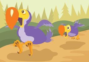 Contexte du vecteur Dodo
