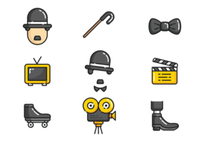 Ícones de Charlie Chaplin