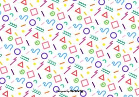 Vector Funky Colorful Geometric Pattern