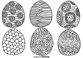 Vector Hand Drawn Easter Eggs For Spring Season