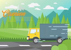 Camion Vector Background
