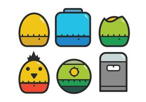 Egg timer icon set