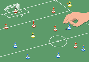 Subbuteo Illustratie Vector