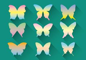 Pacchetto di vettore farfalla pastello