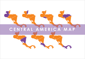 Orange Mittelamerika Karte Vektor