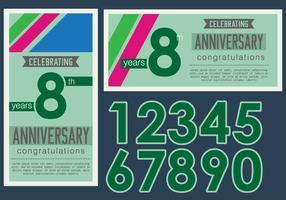 Tarjeta del aniversario del vintage