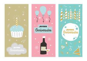 Vintage anniversaire vector posters