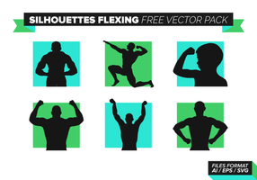 Silhouettes Flexing Free Vector Pack