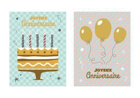 Vector retro del cumpleaños posters