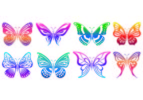 Set Of Mariposa Icons