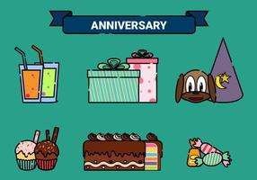 Anniversary Vector Elements