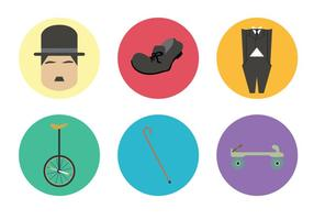 Retro Silent Movie Elements Vector