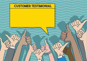 Testimonial illustratie sjabloon