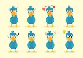 Vetor do Dodo dos desenhos animados