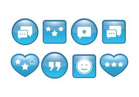Testimonial button vector pack