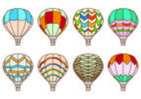 Set Of Hot Air Balloon Vectors
