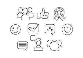 Free Testimonials Thin Line Icon Vector