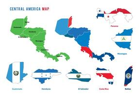 Vecteurs de carte en Amérique centrale
