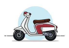 Lambretta scooter flat vector
