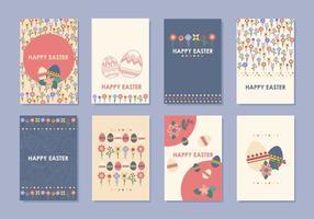 Vectores de etiqueta y tarjeta de regalo de Pascua