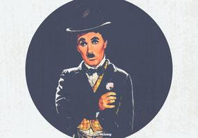 Charlie Chaplin Vintage Illustration