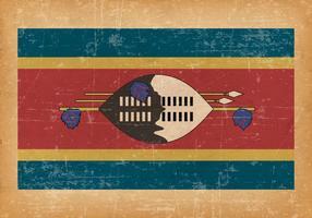 Grunge Flagga av Swaziland