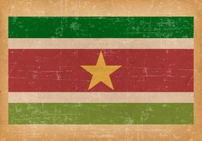 Grunge Flag of Suriname vector