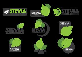 Stevia Etiquetas Vetor