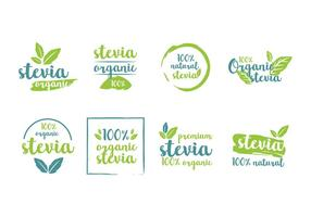 Stevia Etiquetas de Produtos Vector