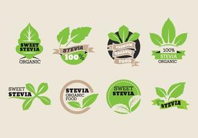 Sweet Stevia Etikett Vector Collection