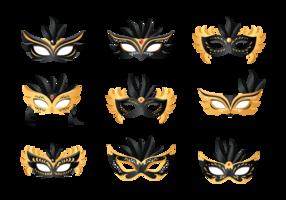 Masquerade Bola Ícones Vector