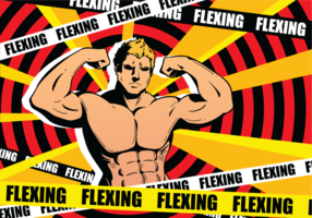 Flexing Vector Illustration