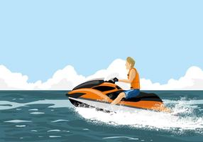 vettore libero del jet ski