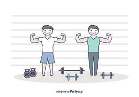 Flexing Vector Hintergrund