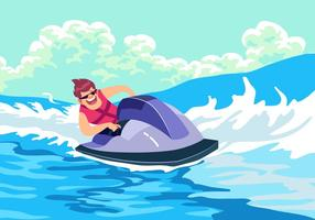 Vector de esquí acuático