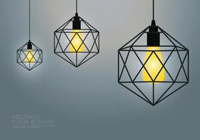 Lámpara de prisma y plantilla de fondo