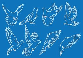 Livre Paloma ícones Vector