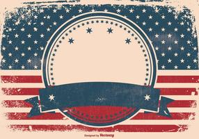 Patriotic-grunge-style-background-vector