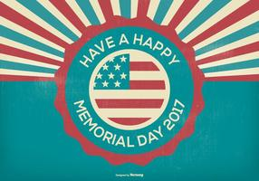 Retro Style Memorial Day Illustratie