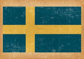 Grunge Bandera de Suecia