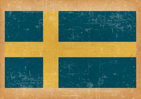 Drapeau grunge de Suède