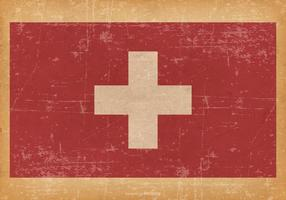 Grunge Flag of Switzerland
