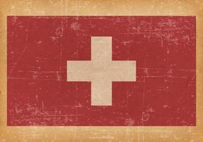 Drapeau grunge de la Suisse