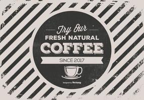Retro Style Promotional Coffee Background